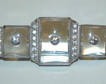Art Deco Glass Paste Brooch