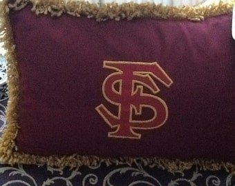 Flordia State University Embroiderd Pillow
