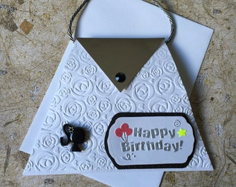 Handmade handbag birthday card