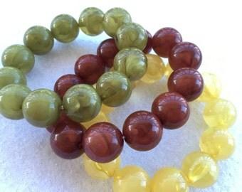 Tia's Royal Trinkets (Marble Beaded Bracelet Set of 3)