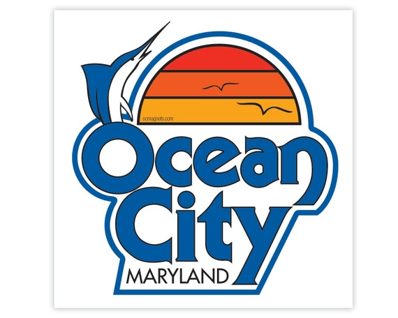 items similar to ocean city stickers vintage oc logo