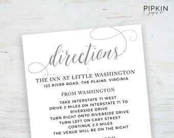 Wedding Details Card Wedding Info Card Wedding Enclosure
