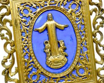 VINTAGE: Plastic Jesus Hanging - Wall Jesus - Hanging Jesus - SKU 25-A-00005093