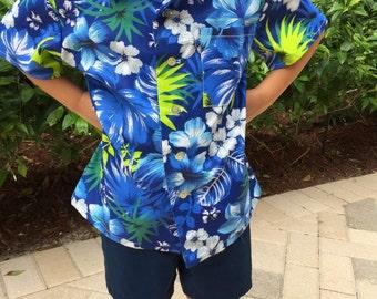 Boy's Hawaiian Shirt, cruise, vacation, luau party, summer shirt