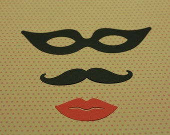 3-mask, mustache and lips. All one kit for 1.50