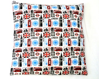 LONDON CUSHION COVER vintage modern london british novelty