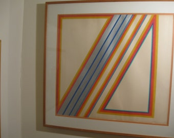 Martin Canin Colored Pencil on paper, unsigned, matted and framed under plexiglass.