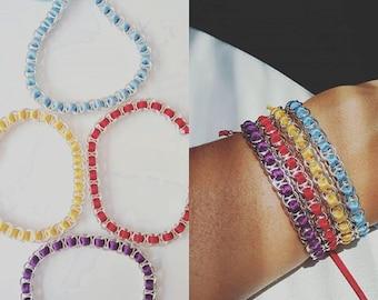 Set of 4 little summer bracelets