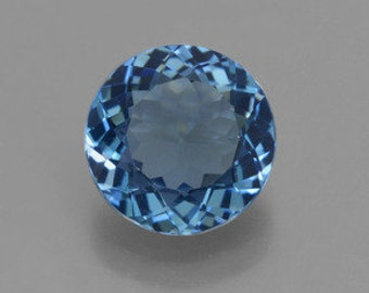 AAA Round Shape Genuine Faceted London Blue Topaz ( 3mm-11mm) . 811-911