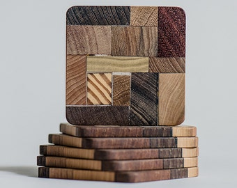 Wooden design coasters