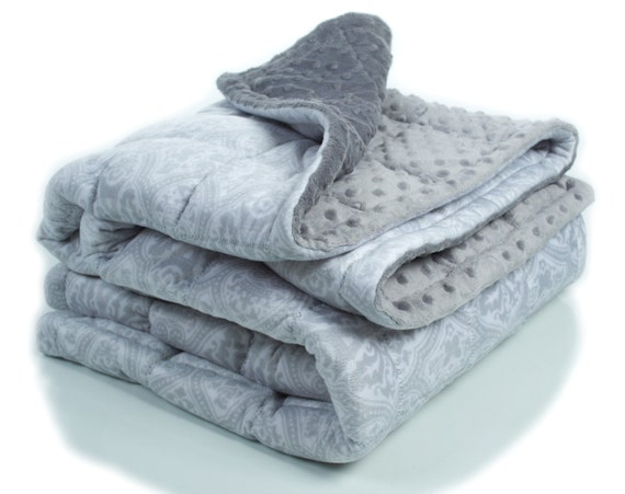 Adult Weighted Blanket With Batting Minky Weighted By