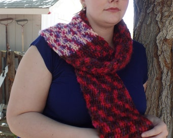 SALE~ Multi-colored Scarf, Berry Colors