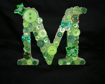 Free Standing Letter M Decorated