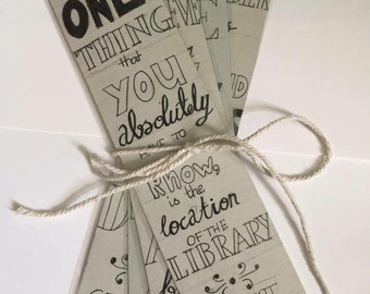 Handmade Bookmarks Set of 4 (Quotes)