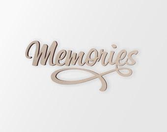 Memories Word Art Etsy