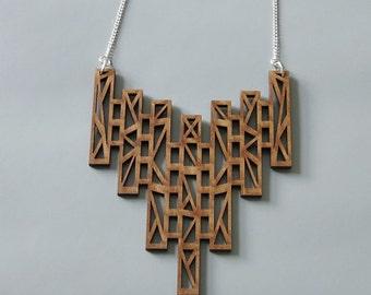 Laser cut statement necklace KRISTALLI