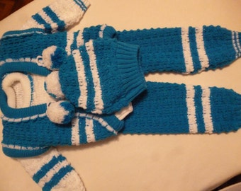 Baby knitted costume for boy or girl