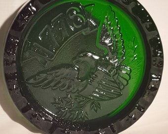 Vintage Blenko Glass 1776 Liberty Ashtray - Green