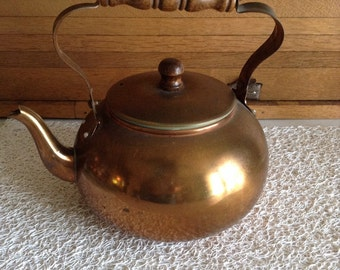 Copper kettle or teapot