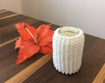 Knitted jar cover, knitted jar