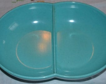 Vintage Aqua Melamine Bowl (shipping included)