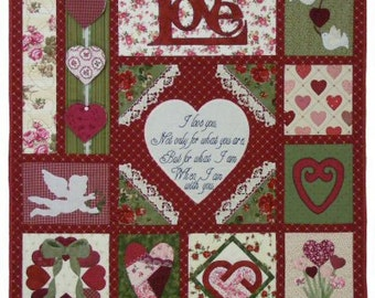 How Do I Love Thee Hearts Quilt Pattern