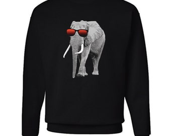 Colorful Elephant Sweatshirt Colorful Hipster Sweater Youth Young Elephant