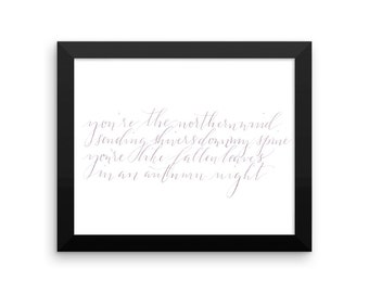 watercolor calligraphy first dance lyrics | calligraphy wedding vows | calligraphy wedding reading | wedding vows in calligraphy