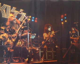 Kiss 27x38 Live 1975 poster Gene Simmons 1978