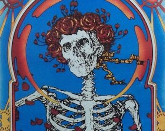 Grateful Dead 22x33 Skull & Roses Music Poster 1984