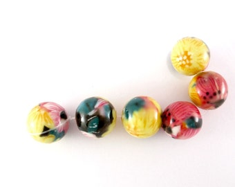 Bead, multi color, glass bead, en188