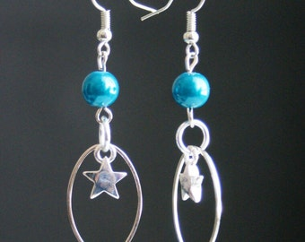 Earrings pearls and stars