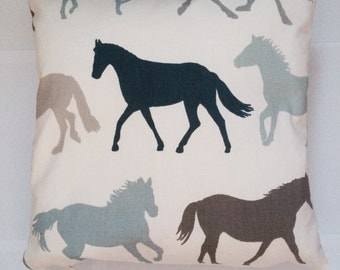 Horses cushion cover / pillow case - 16 inch- UK seller