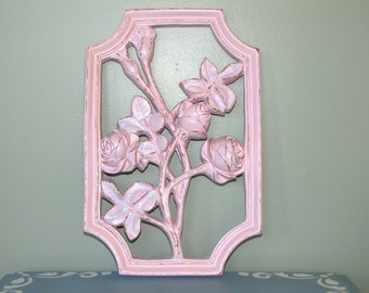 Shabby Chic Rose Wall Hanging