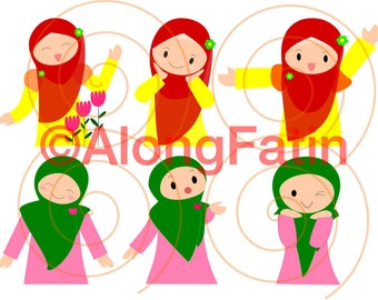 Muslim Girl Clip Art