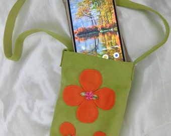 Handmade celular phone bag or purse