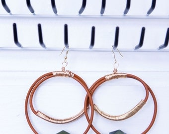 """The 'Leather Circle"""" Earrings"""