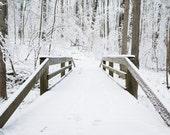 Winter Bridge Photograph - landscape photography, landscape photo, winter photo