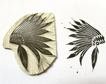 Indian Headdress Stamp