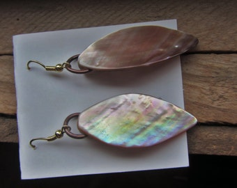 Pink / Brown Dangle Earrings