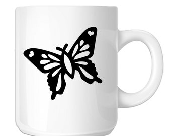 Christian Butterfly Silhouette (SP-00248) 11 OZ Novelty Coffee Mug