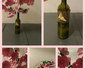 Origami Cherry blossom branch in a bottle