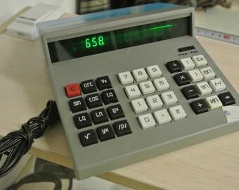 Vintage Soviet Calculator Desk Calculator Electronic Calculator Electric Desk Calculator, Business Calculator Office Calculator