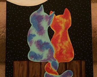 Cats at moonlight