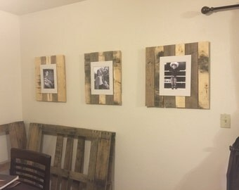 Rustic picture hangers