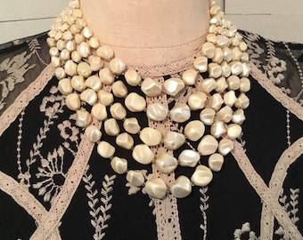 Vintage 4 strand Pearl Like Neckace