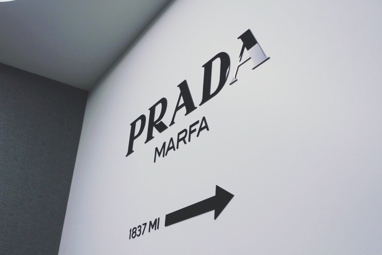 prada marfa gossip girl home decor fashion acrylic wall decal. Black Bedroom Furniture Sets. Home Design Ideas