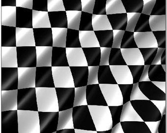 Checkered Flag LAMINATED Cornhole Wrap Bag Toss Decal Baggo Skin Sticker Wraps