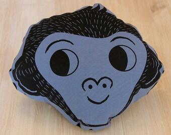Monkey Cushion, throw pillow, illustrated pillow