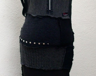 Our Handmade Knitwear Halter Dress in our Dark Colorway